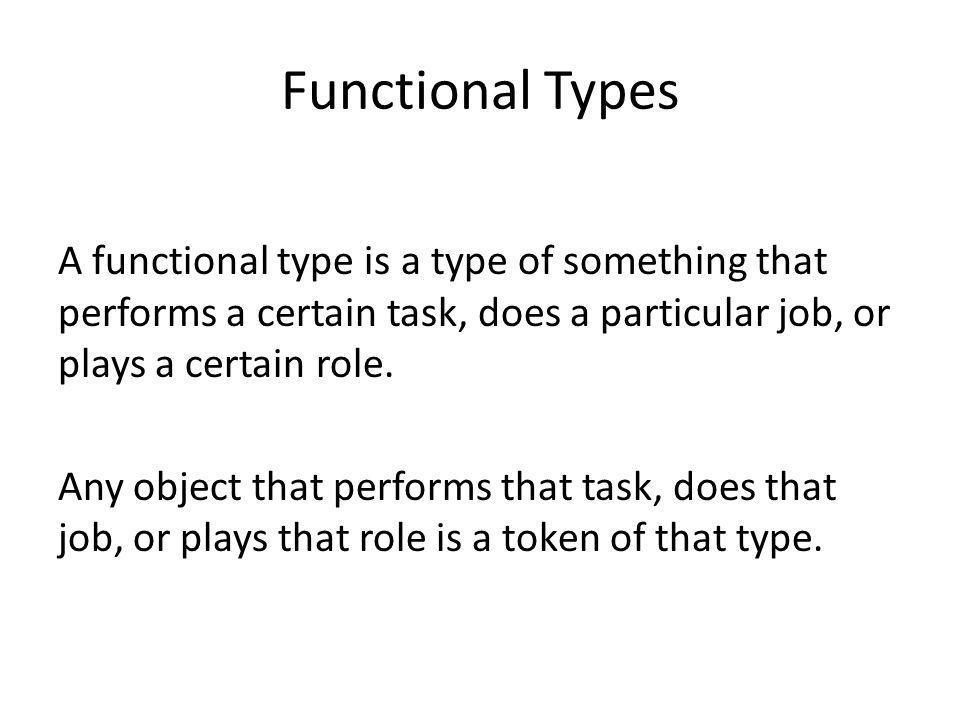 Functional Types