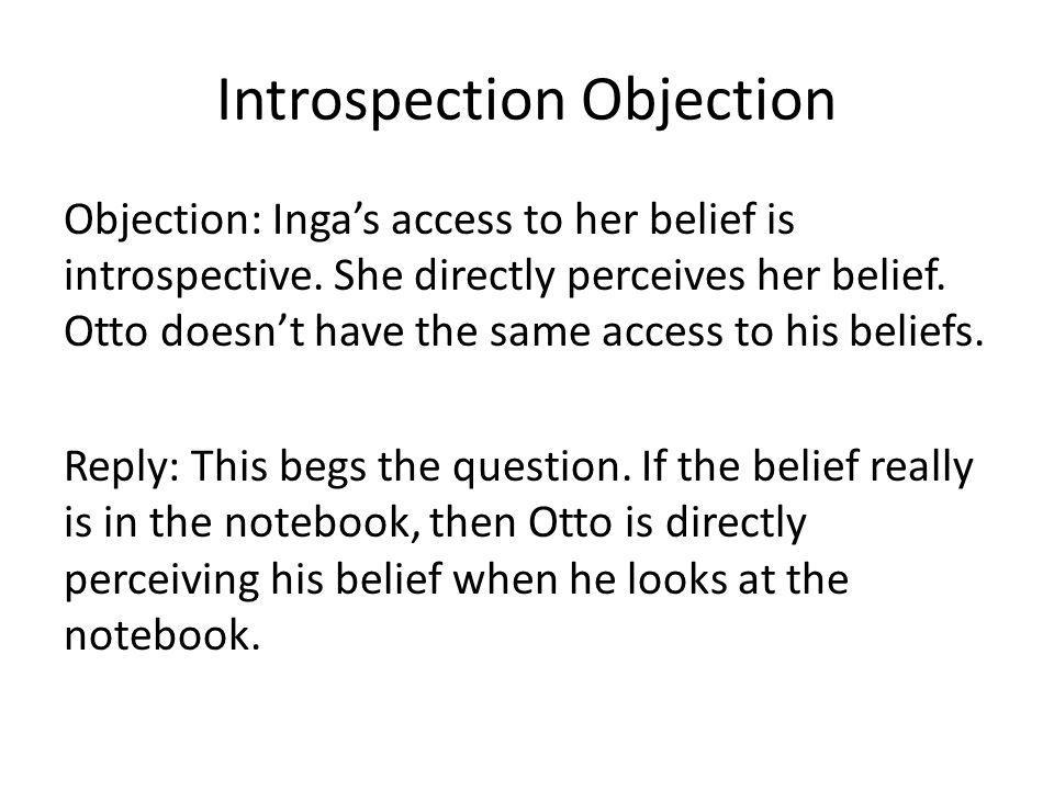 Introspection Objection