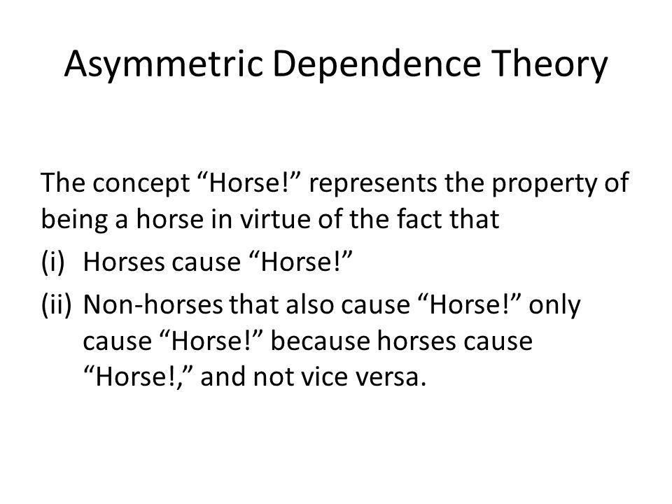 Asymmetric Dependence Theory