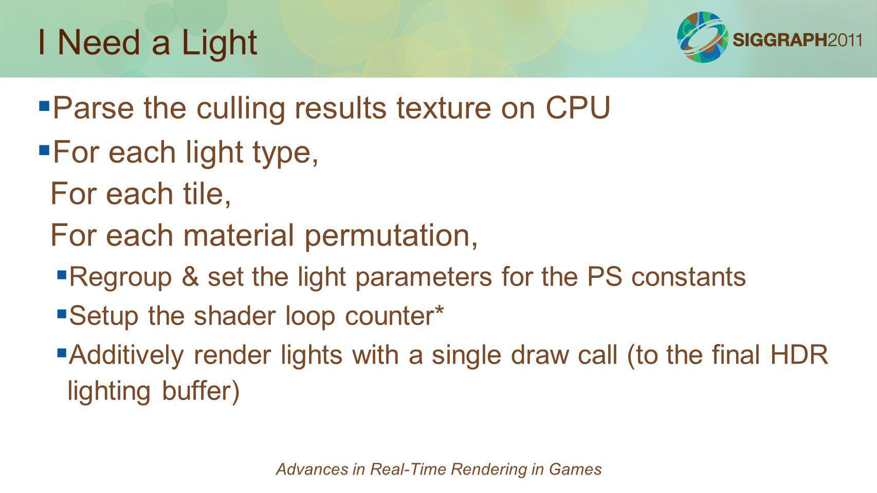 Advances in Real-Time Rendering in Games - ppt download