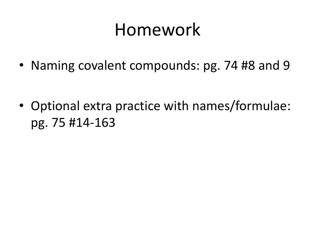 Unit 2 Lesson 7 Naming Covalent Compounds Ppt Download