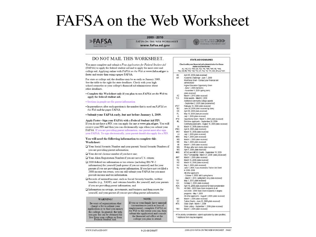 DO NOT MAIL THIS WORKSHEET    PDF likewise FAFSA on the Web for Effective January 1  ppt download moreover Financial Aid Overview together with Pin by Who's Guiding You  College Prep on  Who's Guiding You together with  besides  in addition Resources   Federal Student Aid moreover Printable Fafsa Worksheet   Meningrey together with  likewise  in addition Financial Aid   PDF also Fafsa On the Web Worksheet   Siteraven moreover Creating and Using Your FSA ID together with FAFSA Official Website Links in addition FAFSA on the Web Worksheet also Fafsa On The Web Worksheet Fioradesignstudio  Fafsa On The Web. on fafsa on the web worksheet