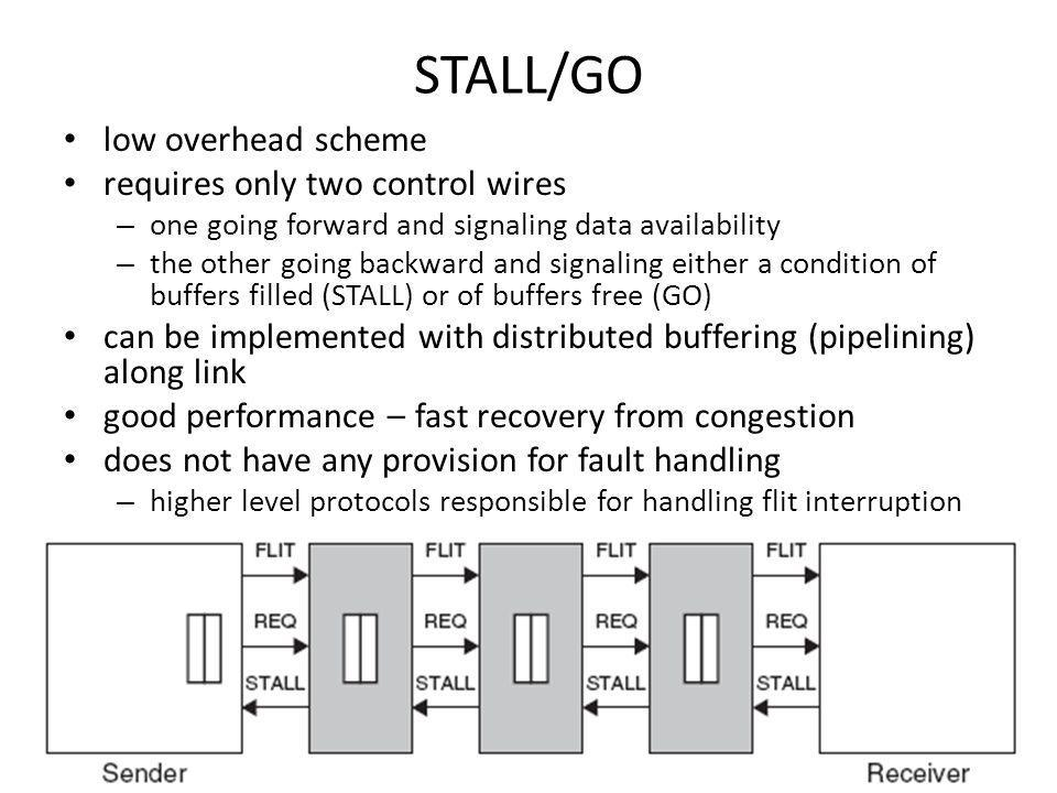 STALL/GO low overhead scheme requires only two control wires