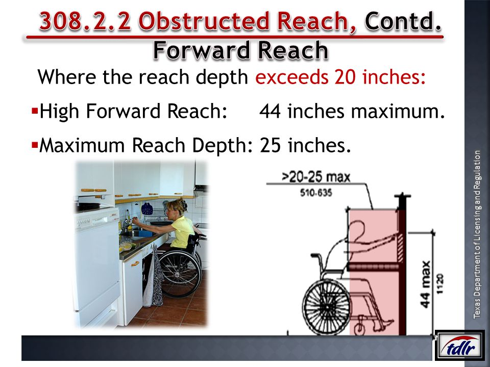 308.2.2 Obstructed Reach, Contd.