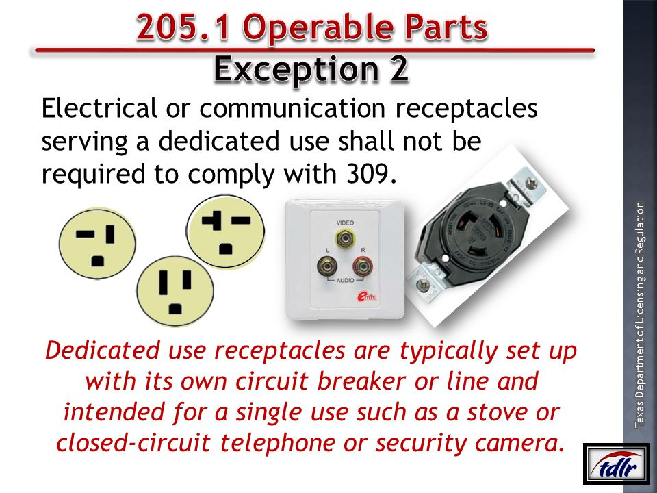 205.1 Operable Parts Exception 2