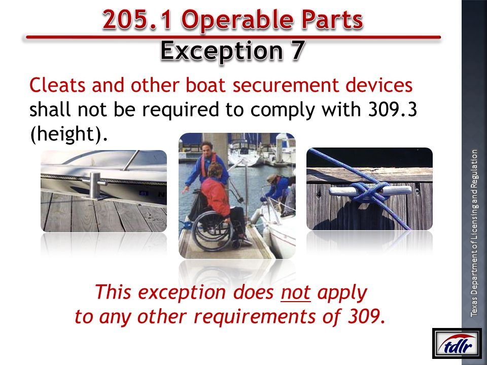 205.1 Operable Parts Exception 7