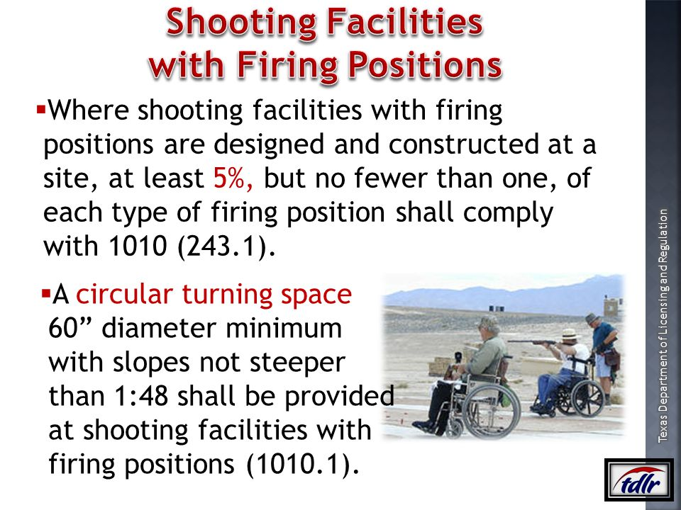 Shooting Facilities with Firing Positions