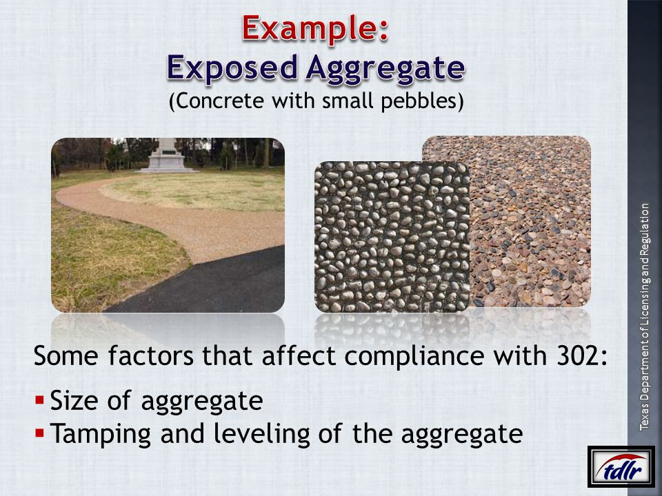 (Concrete with small pebbles)