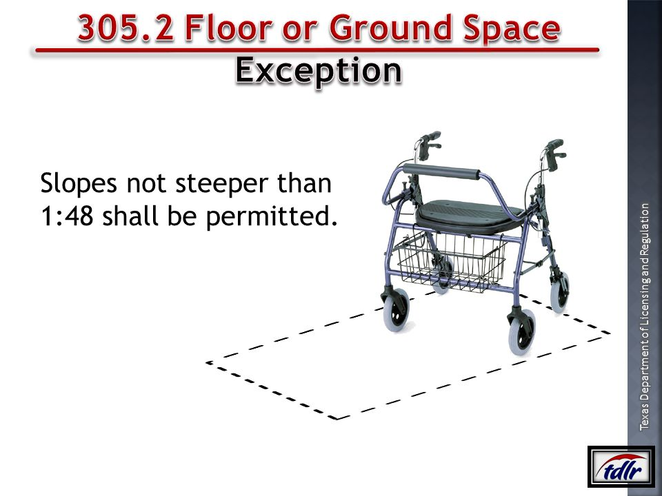305.2 Floor or Ground Space Exception