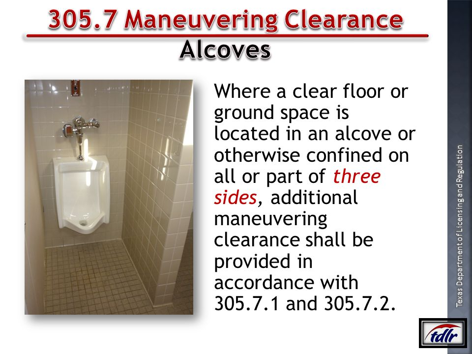 305.7 Maneuvering Clearance