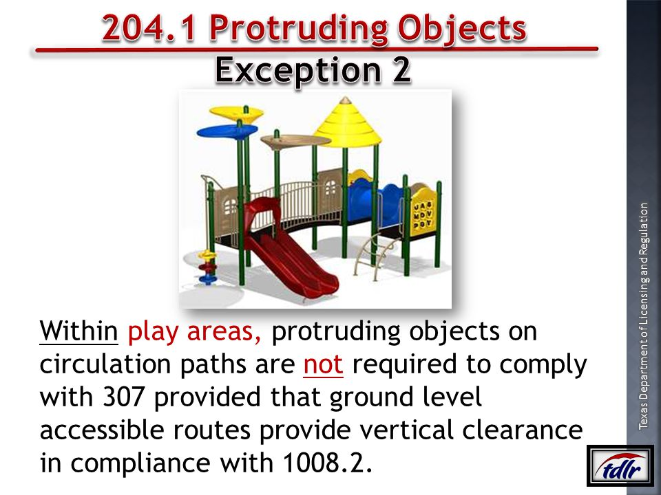 204.1 Protruding Objects Exception 2