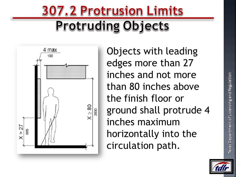 307.2 Protrusion Limits Protruding Objects