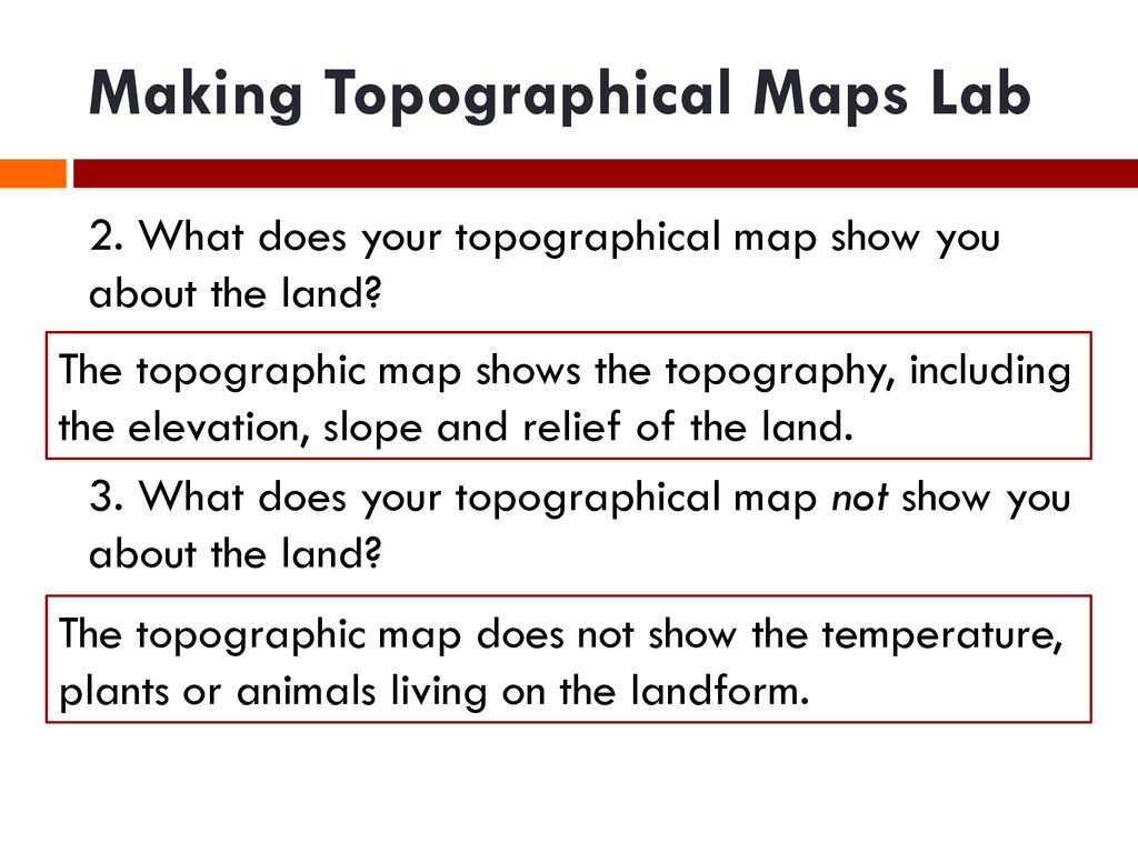 Topographic Map Exit Ticket Ppt Download