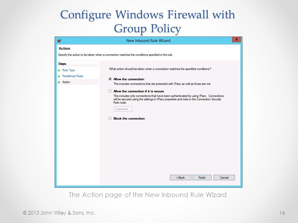 Configure Windows Firewall with Group Policy