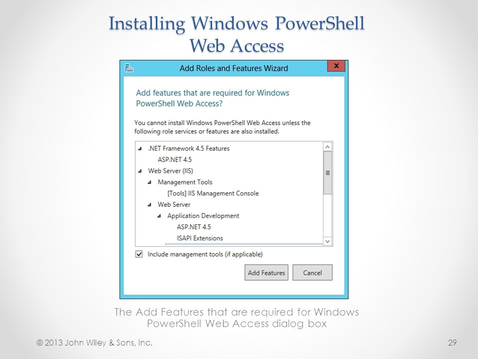 Installing Windows PowerShell Web Access
