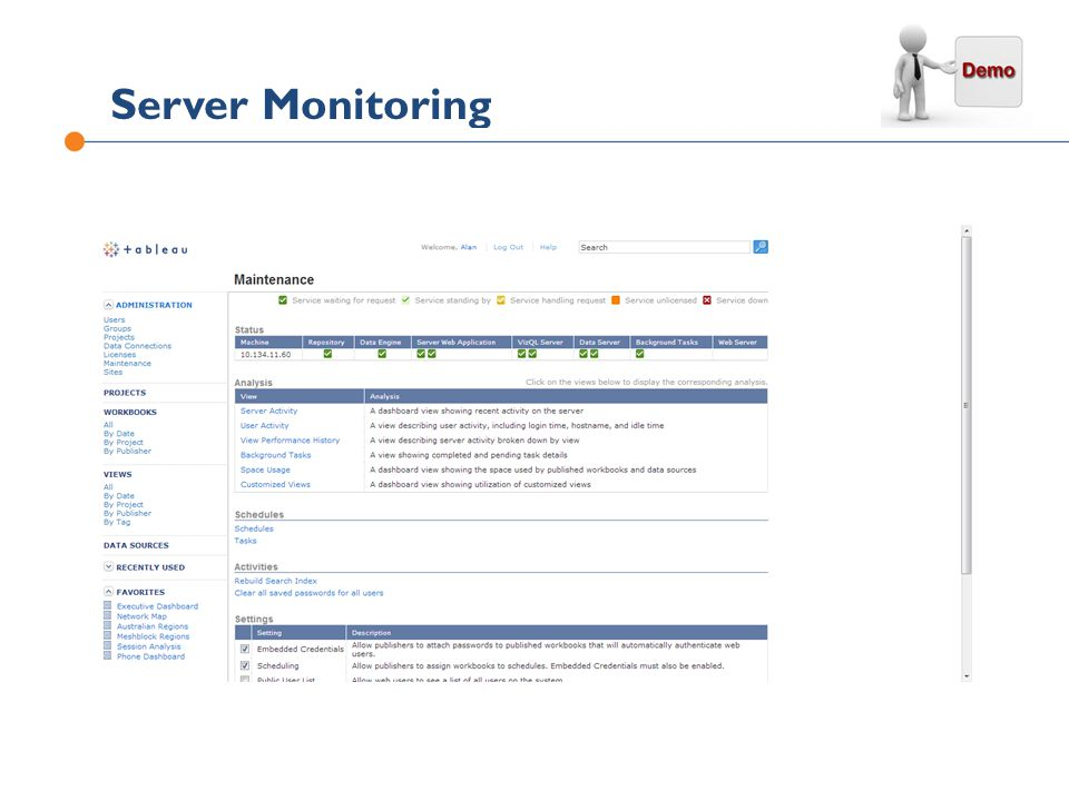 Server Monitoring ©2011 Tableau Software Inc. All rights reserved.