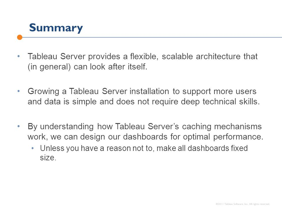 ©2011 Tableau Software Inc. All rights reserved.