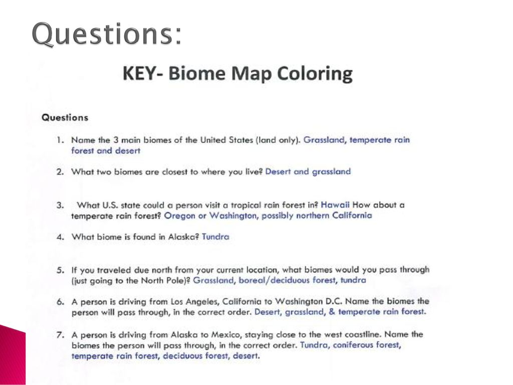 Biomes Map Yours Should Look Like This Ppt Download