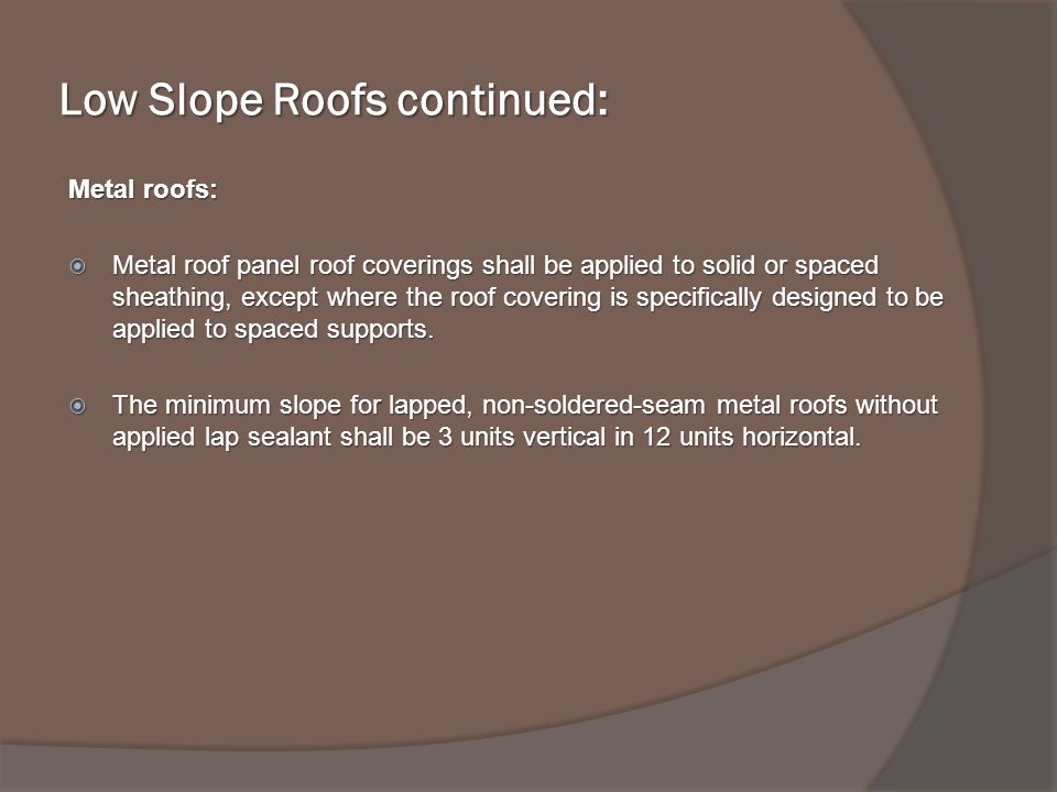 Repair and/or Replacement of Various Roofing Materials - ppt