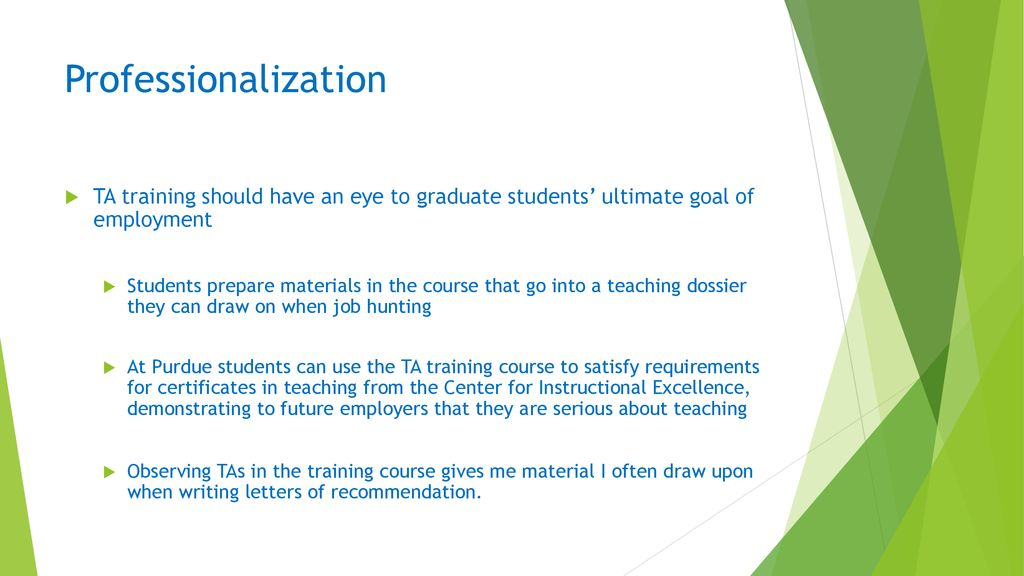 Teaching Assistant Training At Purdue Ppt Download