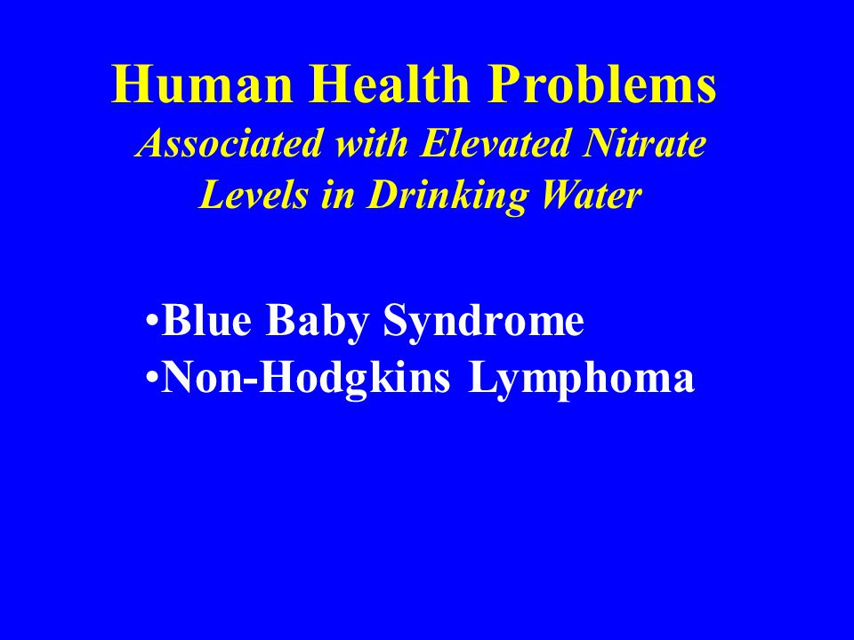 Associated with Elevated Nitrate Levels in Drinking Water