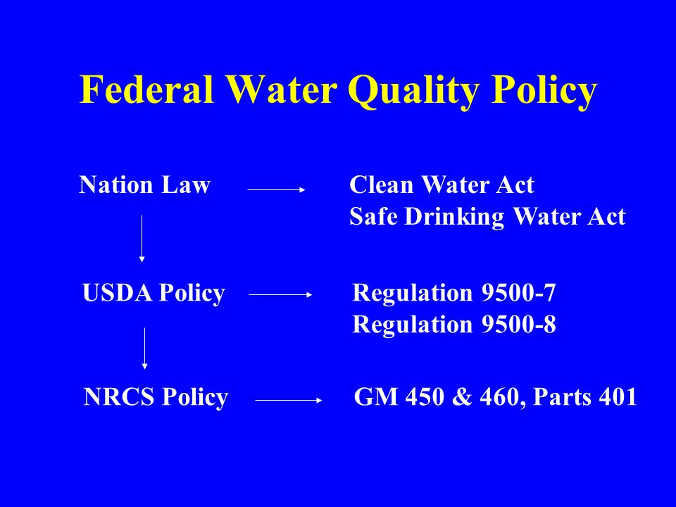 Federal Water Quality Policy