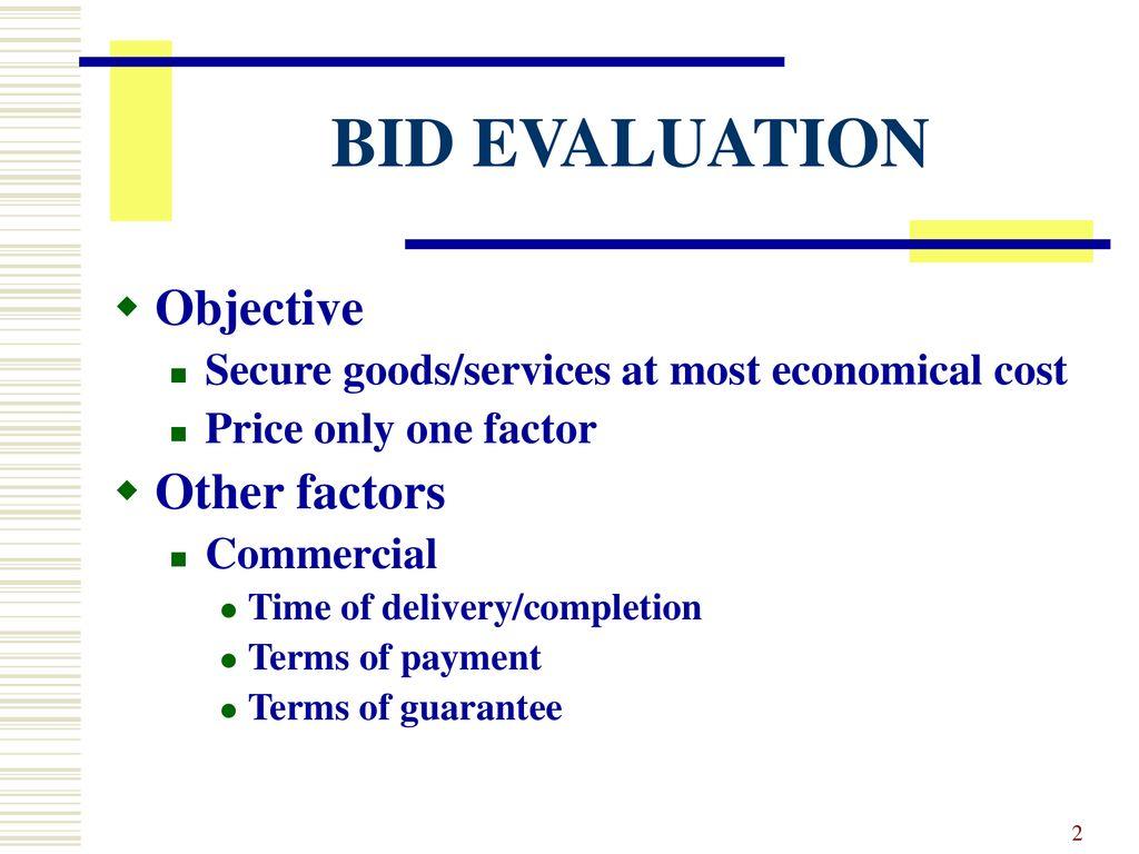 World Bank Evaluation Process Goods Works Ppt Download