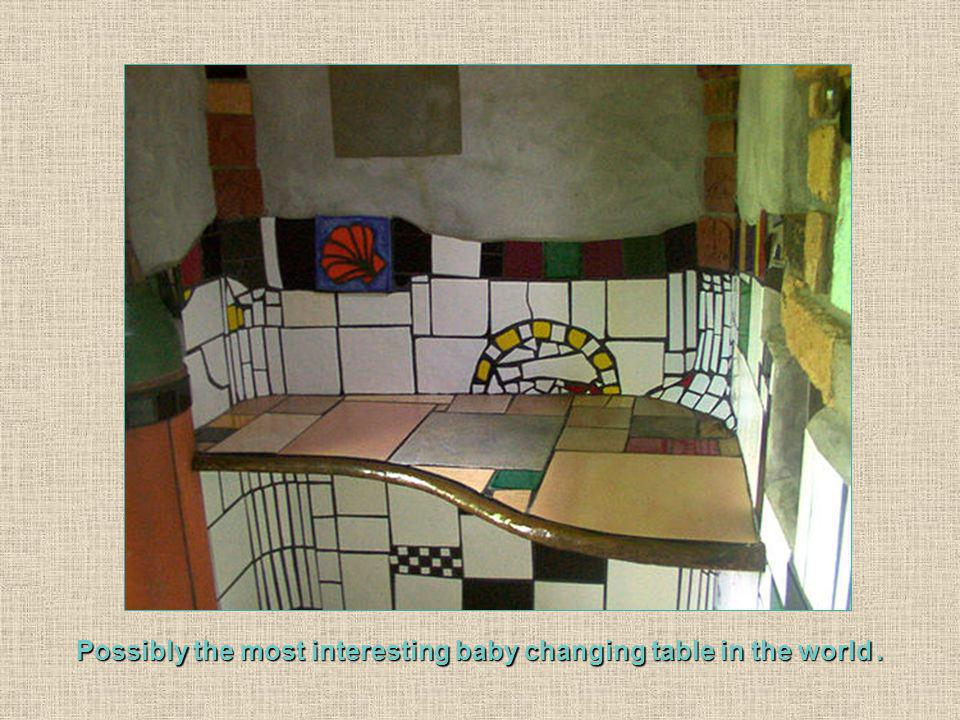 Possibly the most interesting baby changing table in the world.