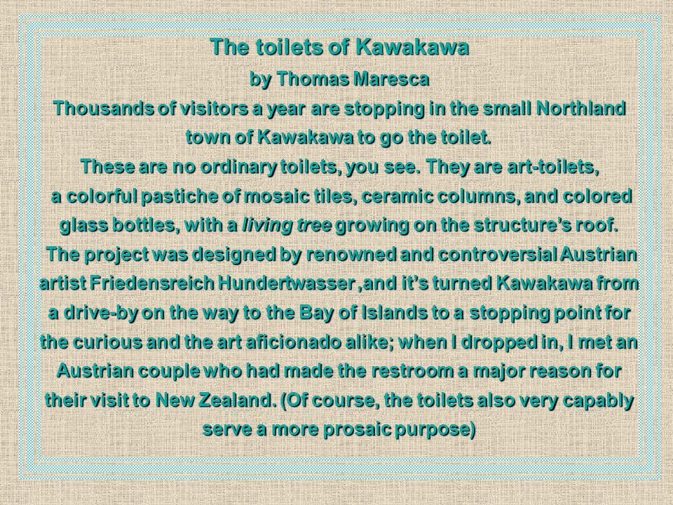 The toilets of Kawakawa