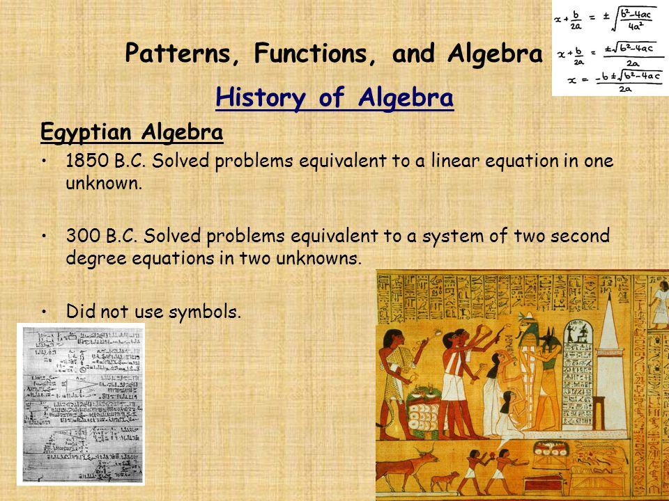 egyptian algebra