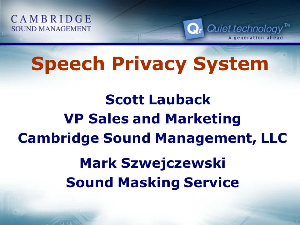 Cambridge Sound Management, LLC