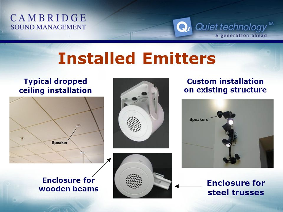 Installed Emitters Enclosure for steel trusses