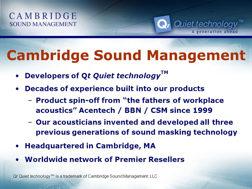 Cambridge Sound Management