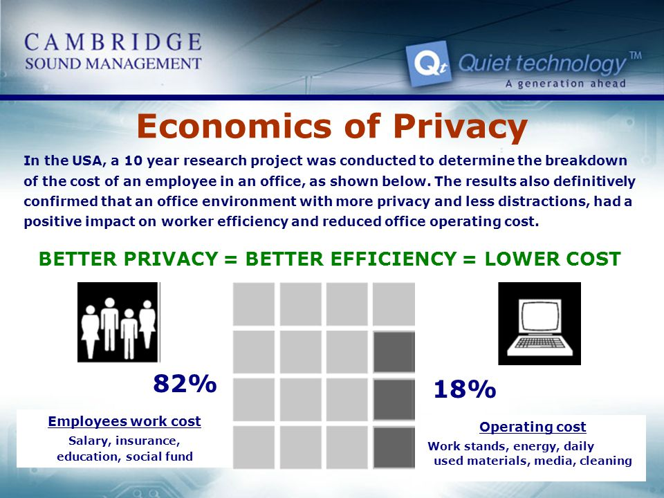 Economics of Privacy 82% 18%