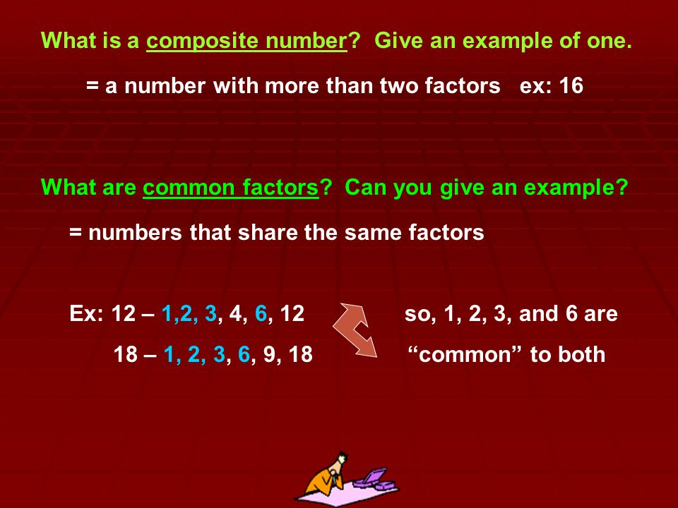 What is a composite number Give an example of one.