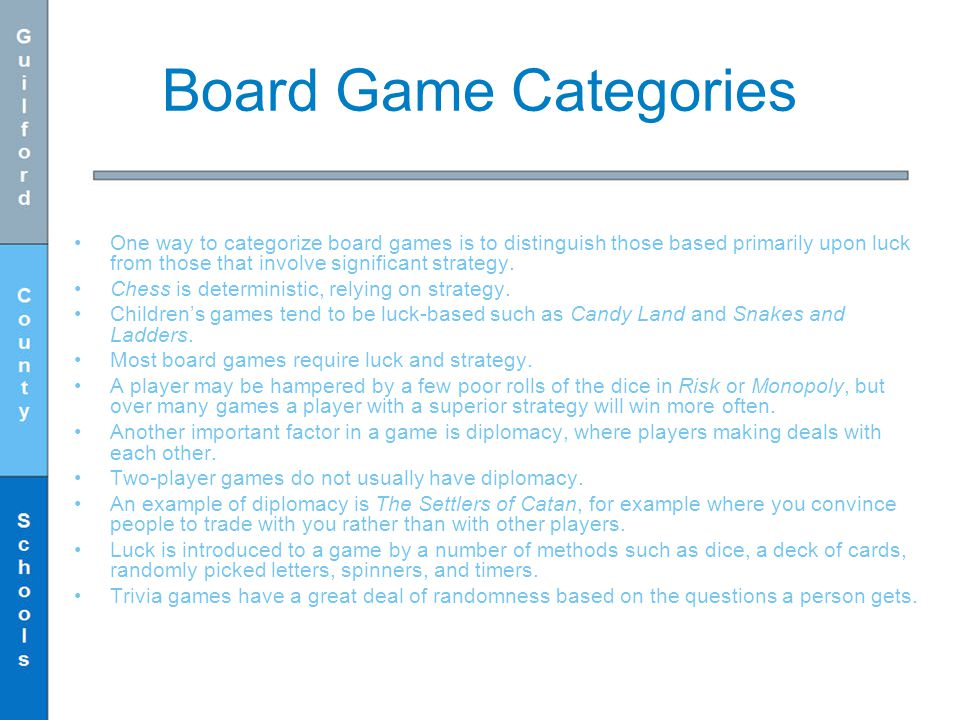 Board Game Categories