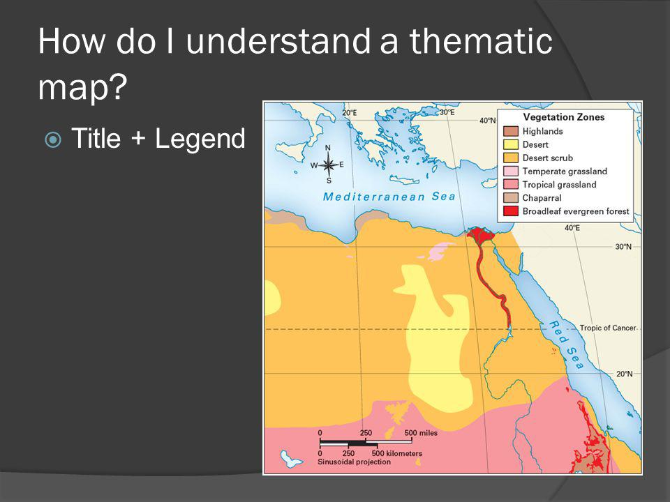 How do I understand a thematic map