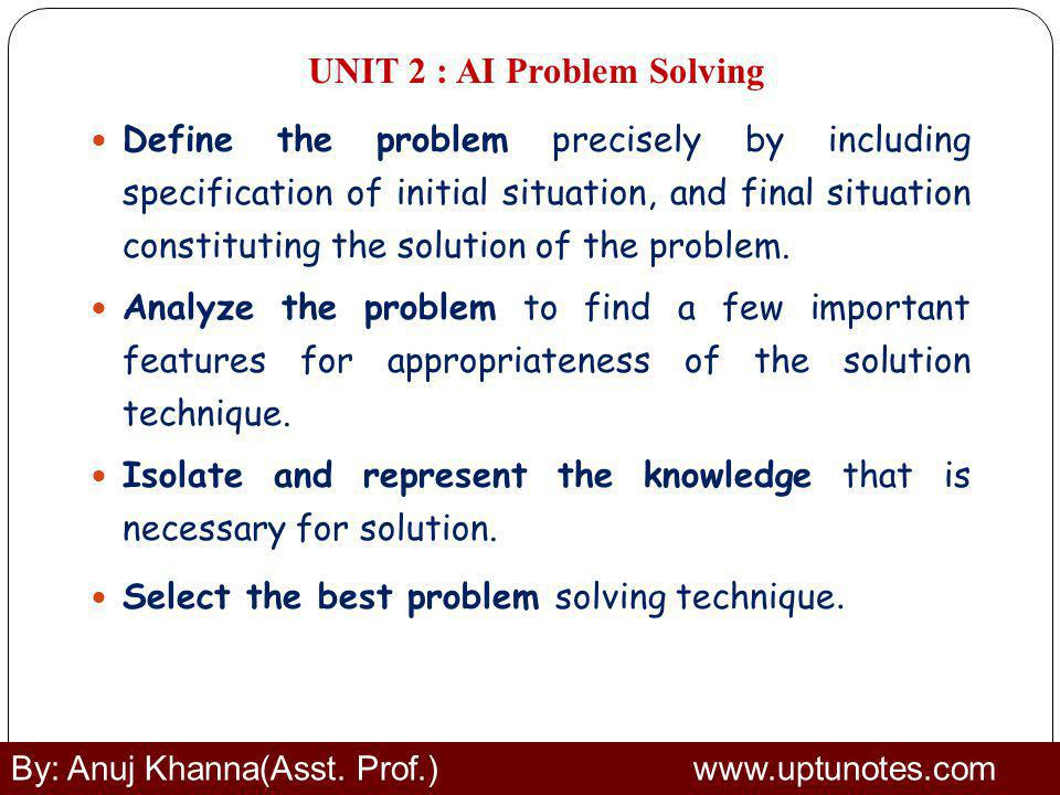 UNIT 2 : AI Problem Solving