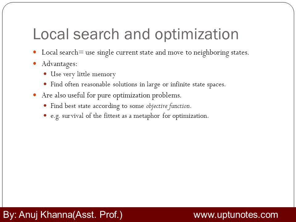 Local search and optimization