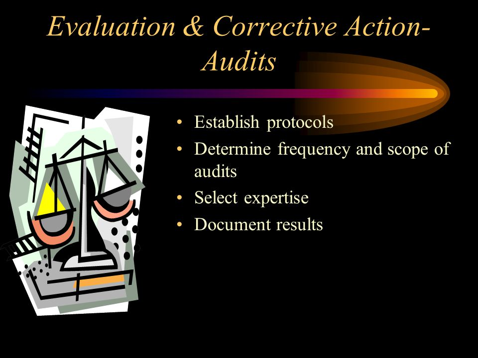 Evaluation & Corrective Action- Audits