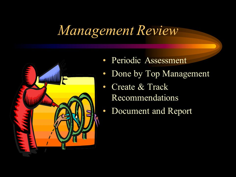 Management Review Periodic Assessment Done by Top Management