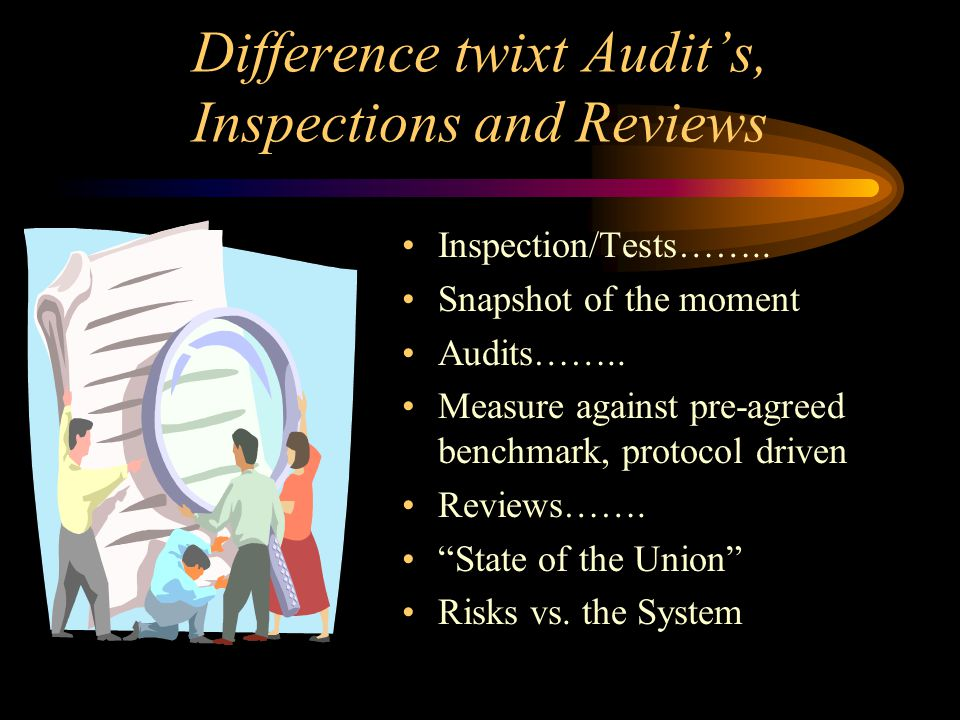 Difference twixt Audit's, Inspections and Reviews