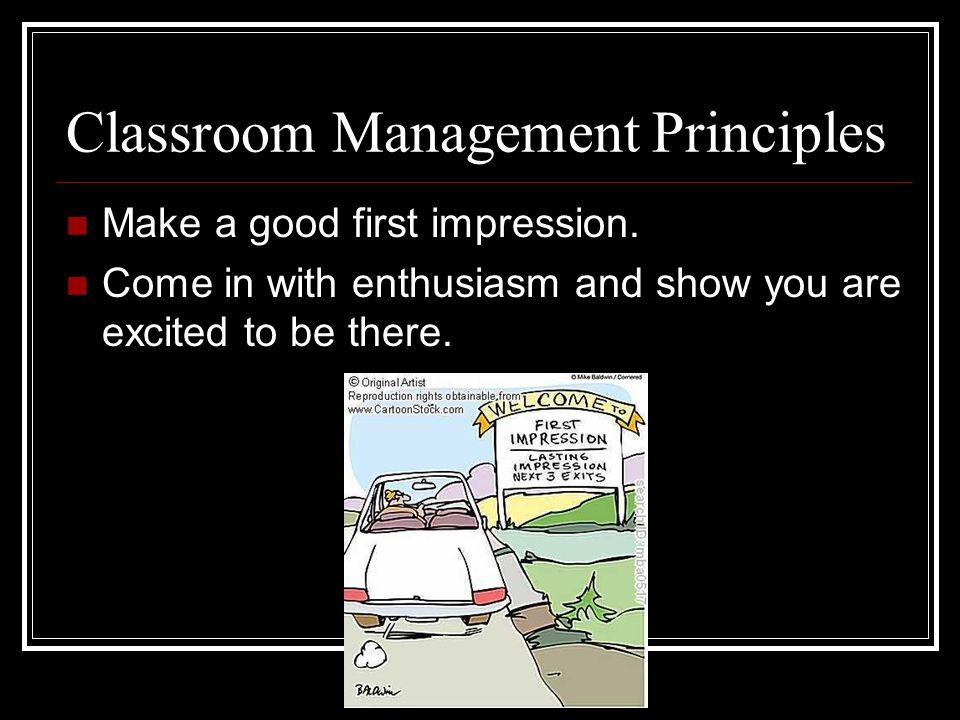Classroom Management Principles
