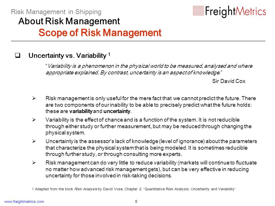 Modern applications of Risk Management