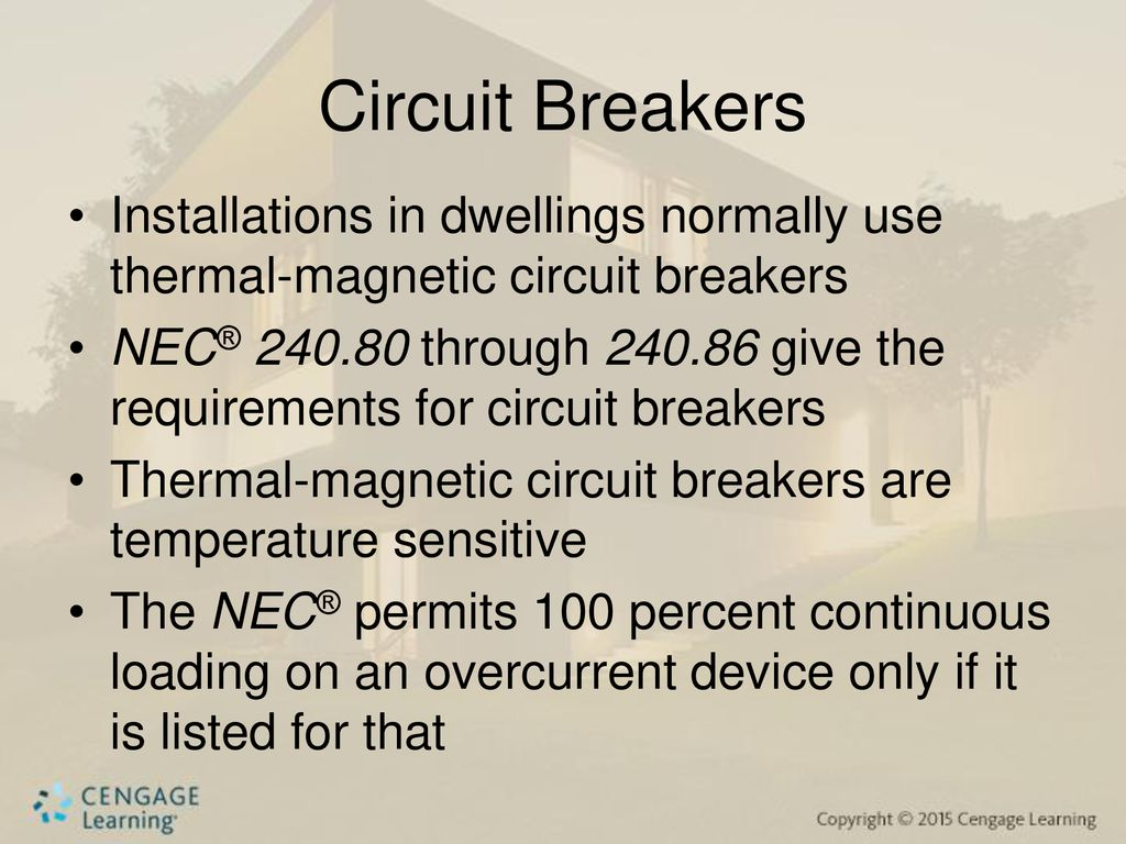 Overcurrent Protection Fuses And Circuit Breakers Ppt Download Magnetic Some Use A 18 Installations In Dwellings Normally Thermal