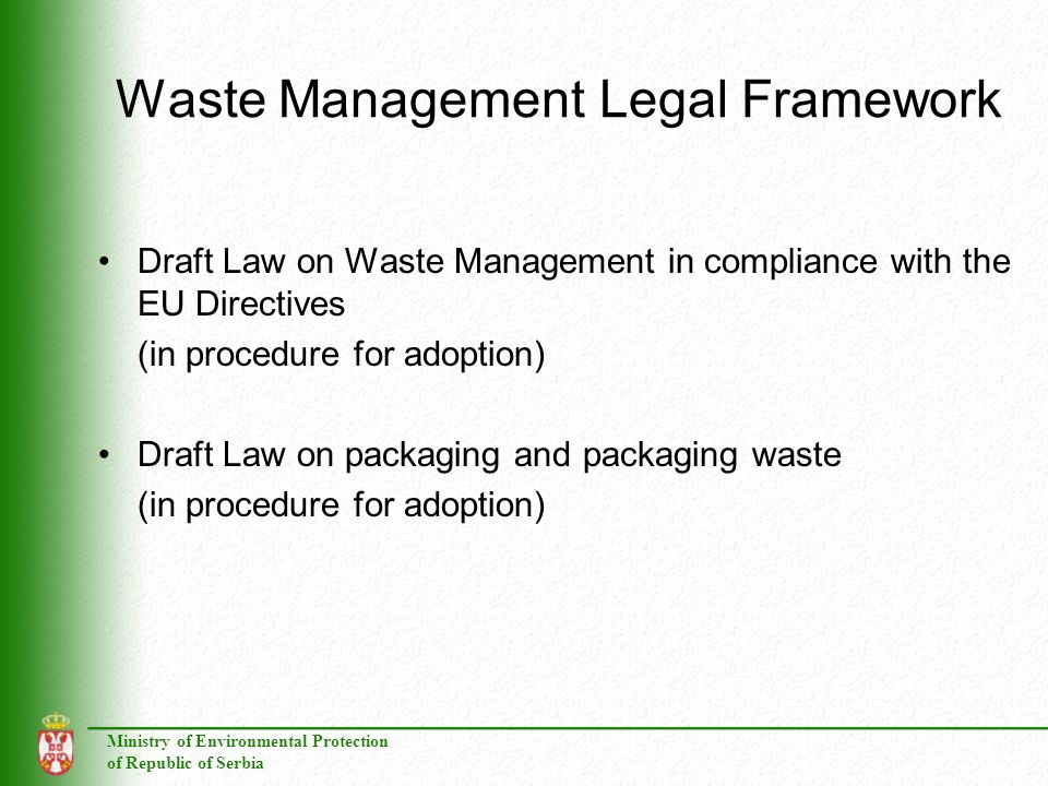 Waste Management Legal Framework