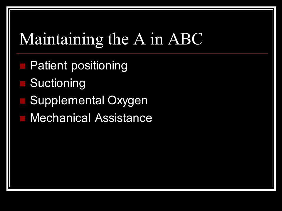 Maintaining the A in ABC