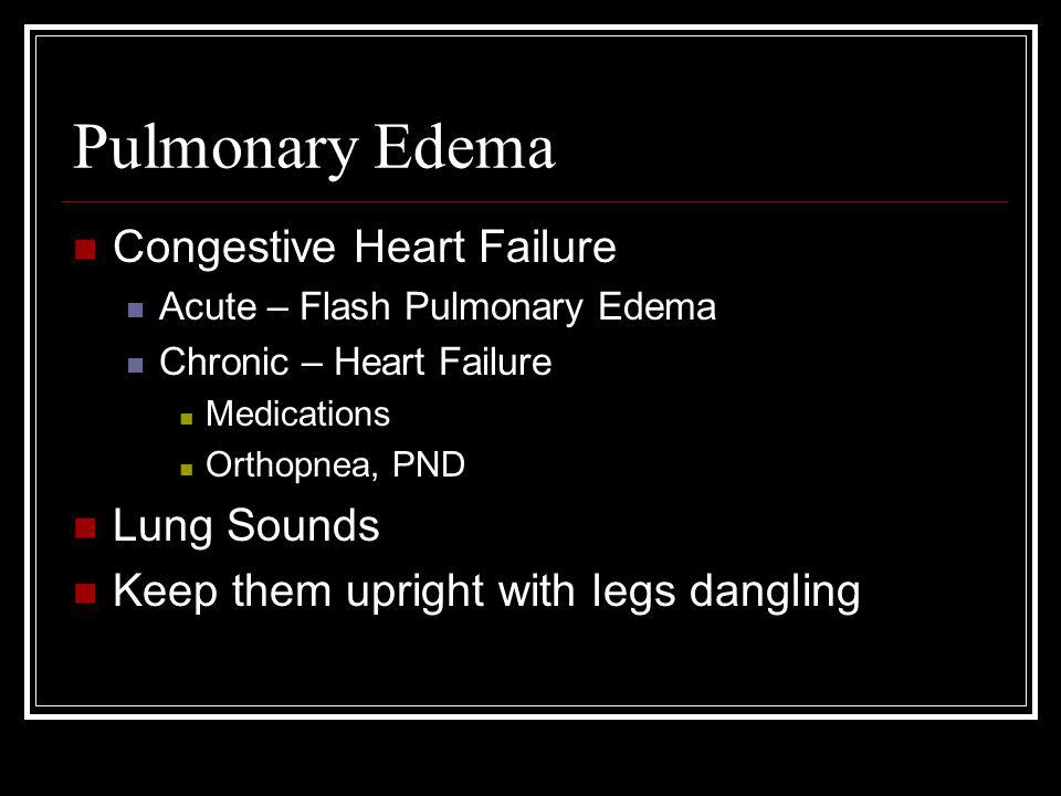 Pulmonary Edema Congestive Heart Failure Lung Sounds