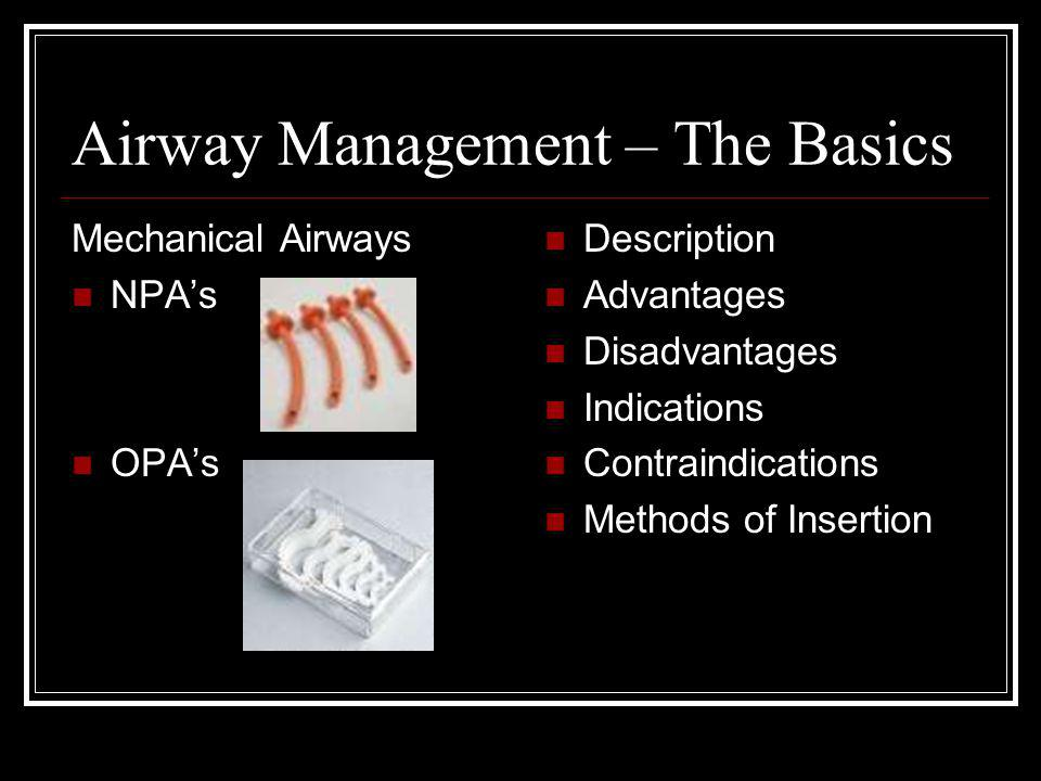 Airway Management – The Basics