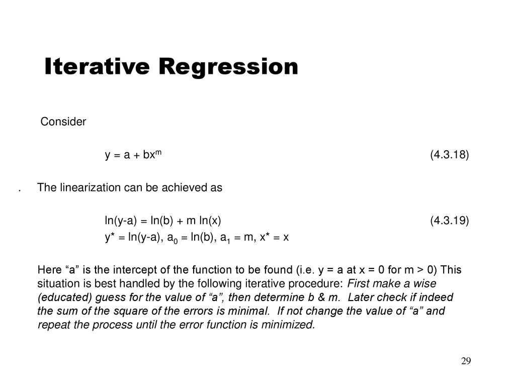 Iterative Regression Consider Y A Bxm 4318